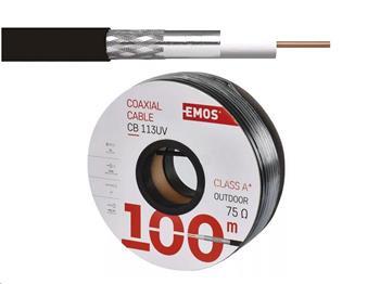 Koaxiální kabel Emos CB113UV / 100m / 6,8 mm venkovní