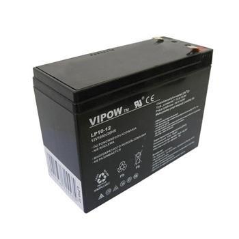 Baterie olověná  12V / 10Ah  VIPOW bezúdržbový akumulátor