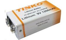 Baterie TINKO ER9 (6F22) 9V lithiová 1200mAh