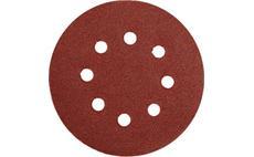 Brusný papír 125 mm P180 s otvory 5 ks suchý zip