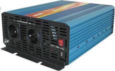 Carspa P2000 24V/230V 2000W USB / DO, čistá sinusovka