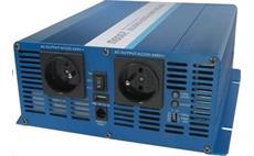 Carspa SK2000 12V/230V 2000W USB / DO, čistá sínusovka