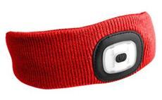 Čelenka s čelovkou, univerzální velikost, červená SIXTOL