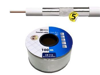 Emos Koaxiální kabel Emos CB115 / 100m / 6,8 mm