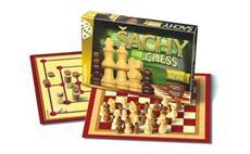 Hra stolní BONAPARTE Šachy, dáma, mlýn