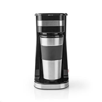 Kávovar NEDIS KACM300FBK na jeden hrnek | 0,42 l | černý