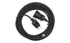 Prodlužovací kabel 40m / 3x1,5mm spojka gumový černý