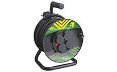 Prodlužovací kabel PROFI na bubnu 25m / 3x1,5mm gumový / 4 zásuvky